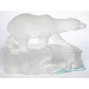Crystal Glass Polar Bear & Seals