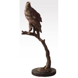 Eagle Bronze Sculpture On Marble Base