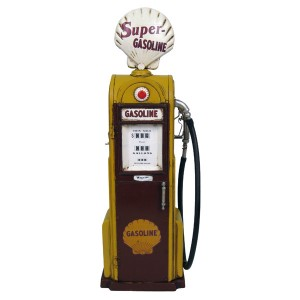 1938 Yellow/Brown Gas Pump Model