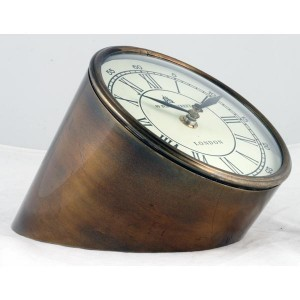 Table Clock Brass Finish 13.5cm