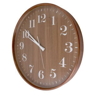 Round Wooden Wall Clock 53cm