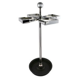 Umbrella Stand Nickel Plated - 4 Stirrups