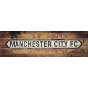 Vintage Sign Manchester City FC  - MDF