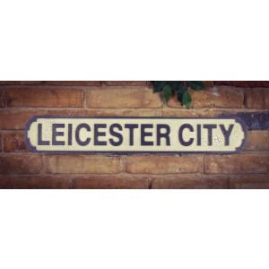 Vintage Road Sign, Leicester City FC