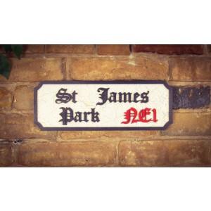 St James Park NE1 Tourist Sign