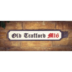 Old Trafford M16 Tourist Sign