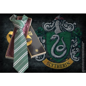Slytherin 100% Silk Tie in Madam Malkins Box