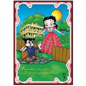Steel Sign - Betty Boop Frankly My Dear (Gone With The Wind)