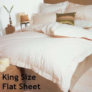 Percale 400 Count King Size Flat Sheet