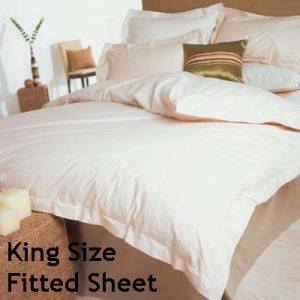 Percale 400 Count King Size Fitted Sheet