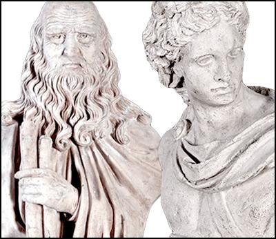 Roman Stone Effect Statues