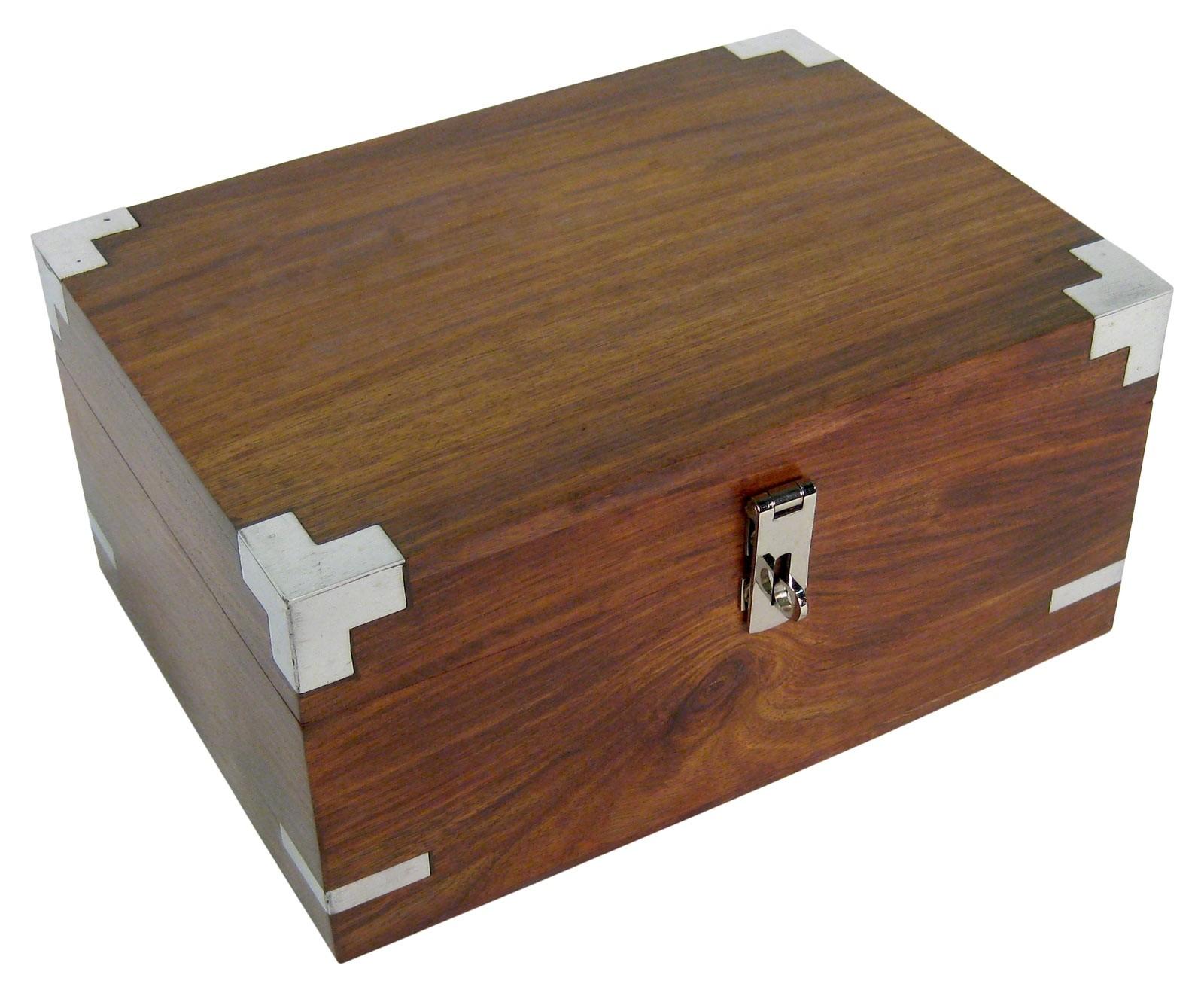 Sheesham Wood Stationary Box