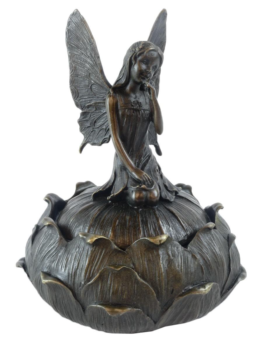 Fairy Hot Cast Bronze Sculpture 14cm