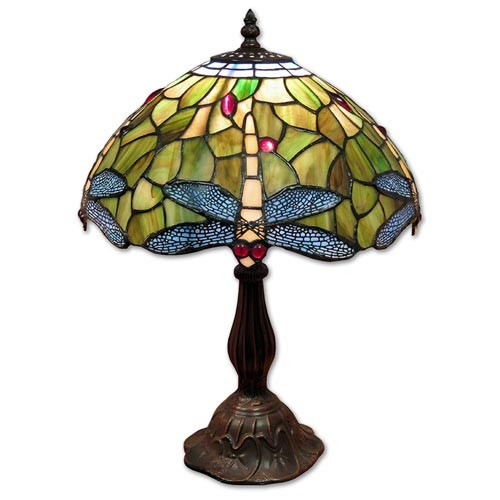 Dragonfly Tiffany Table Lamp + Free Bulb (Medium)
