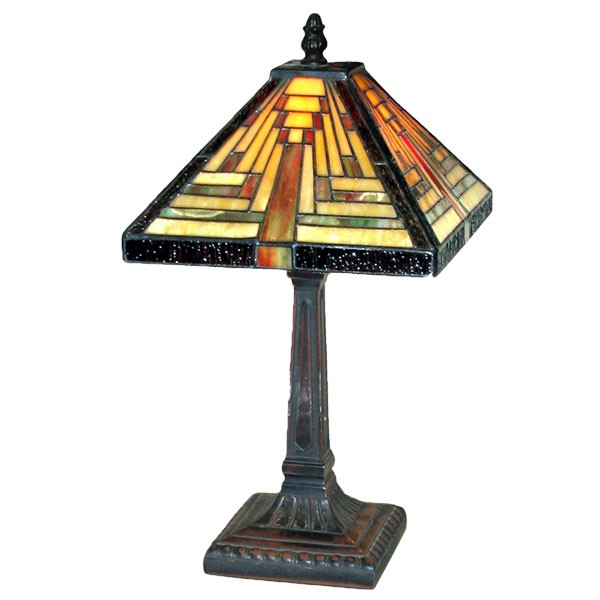 Pyramid Deco Tiffany Table Lamp - 38cm
