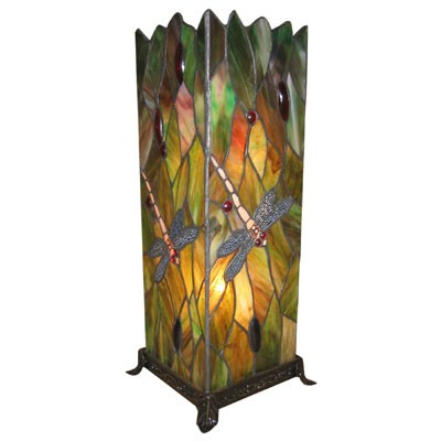 Dragonfly square tiffany table lamp large free bulbs aloadofball Images