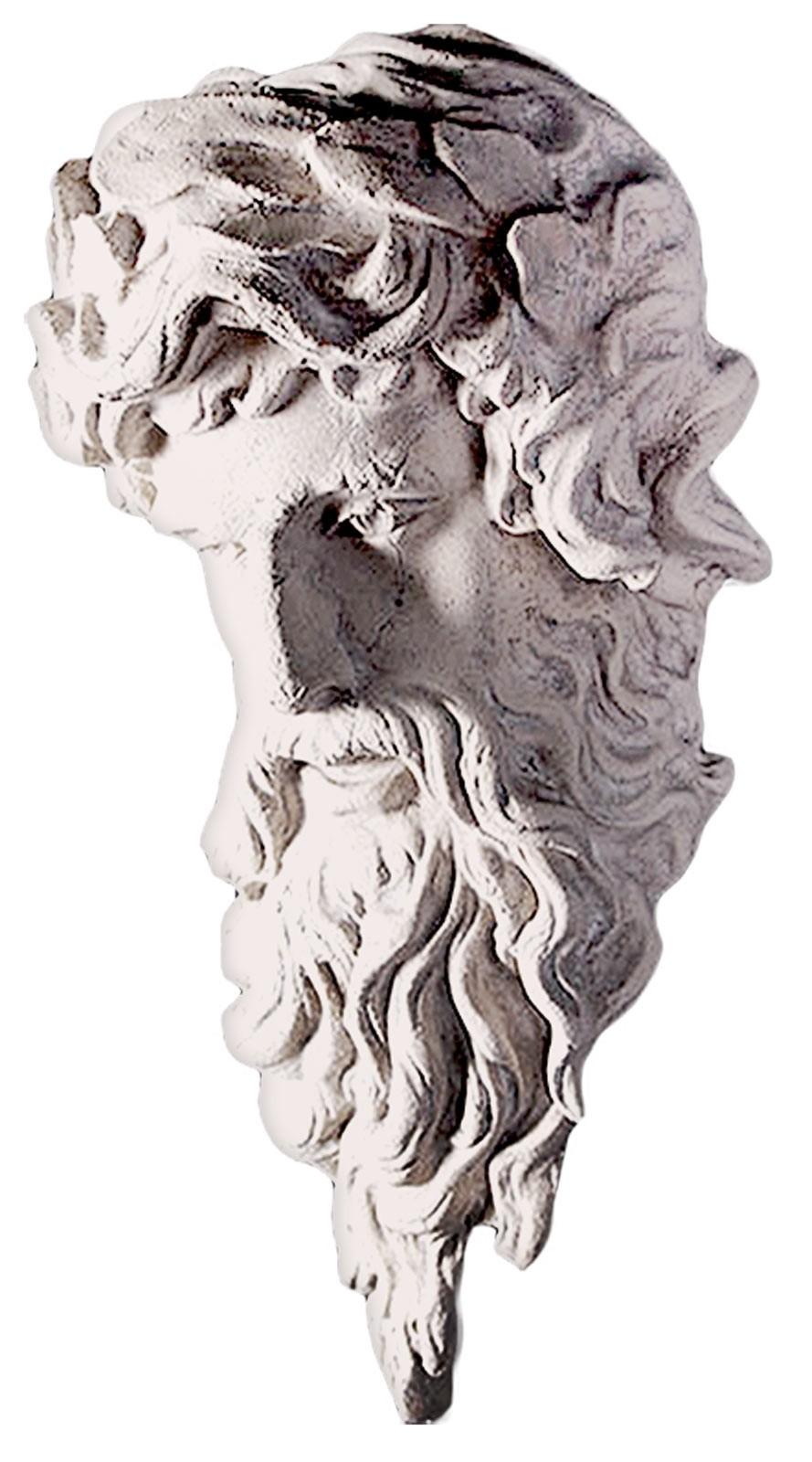 Hercules Head Wall Hanging Roman Stone Finish