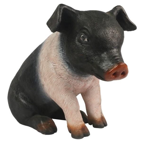 Sitting Piglet Sculpture - 37.5cm