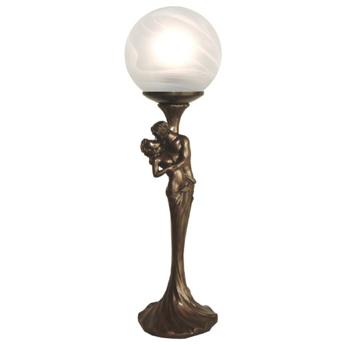 Art deco lover figurine table lamp free bulb