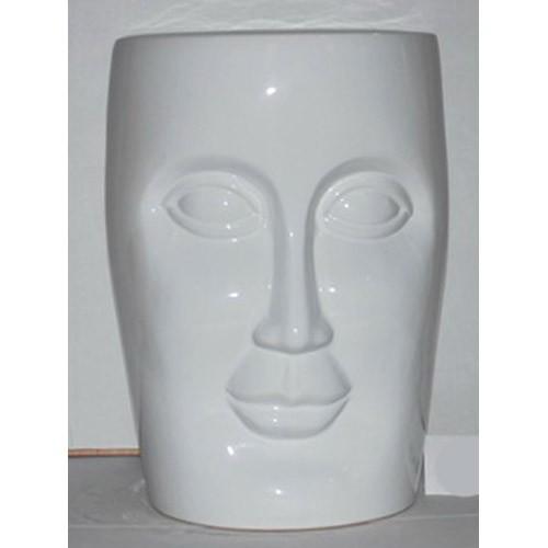 Peachy Ceramic Face Stool Garden Seat White Bralicious Painted Fabric Chair Ideas Braliciousco