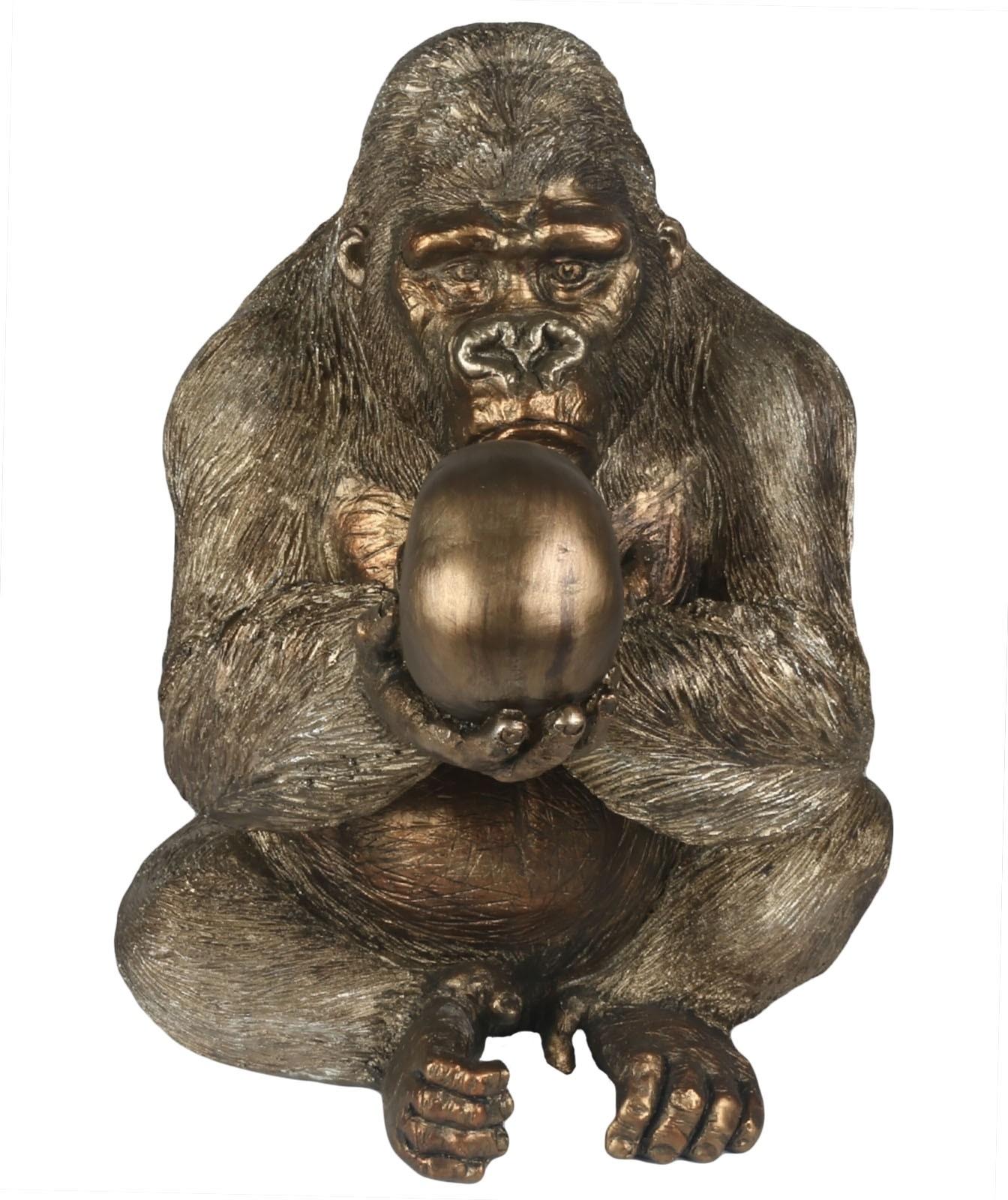 Gorilla/Silver Back With Skull 43cm