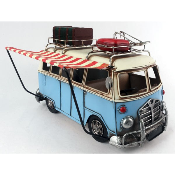Blue Camper Van with Canopy Model