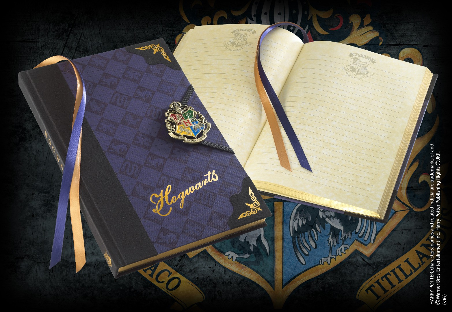 Hogwarts Journal With Enamel Metal Clasp