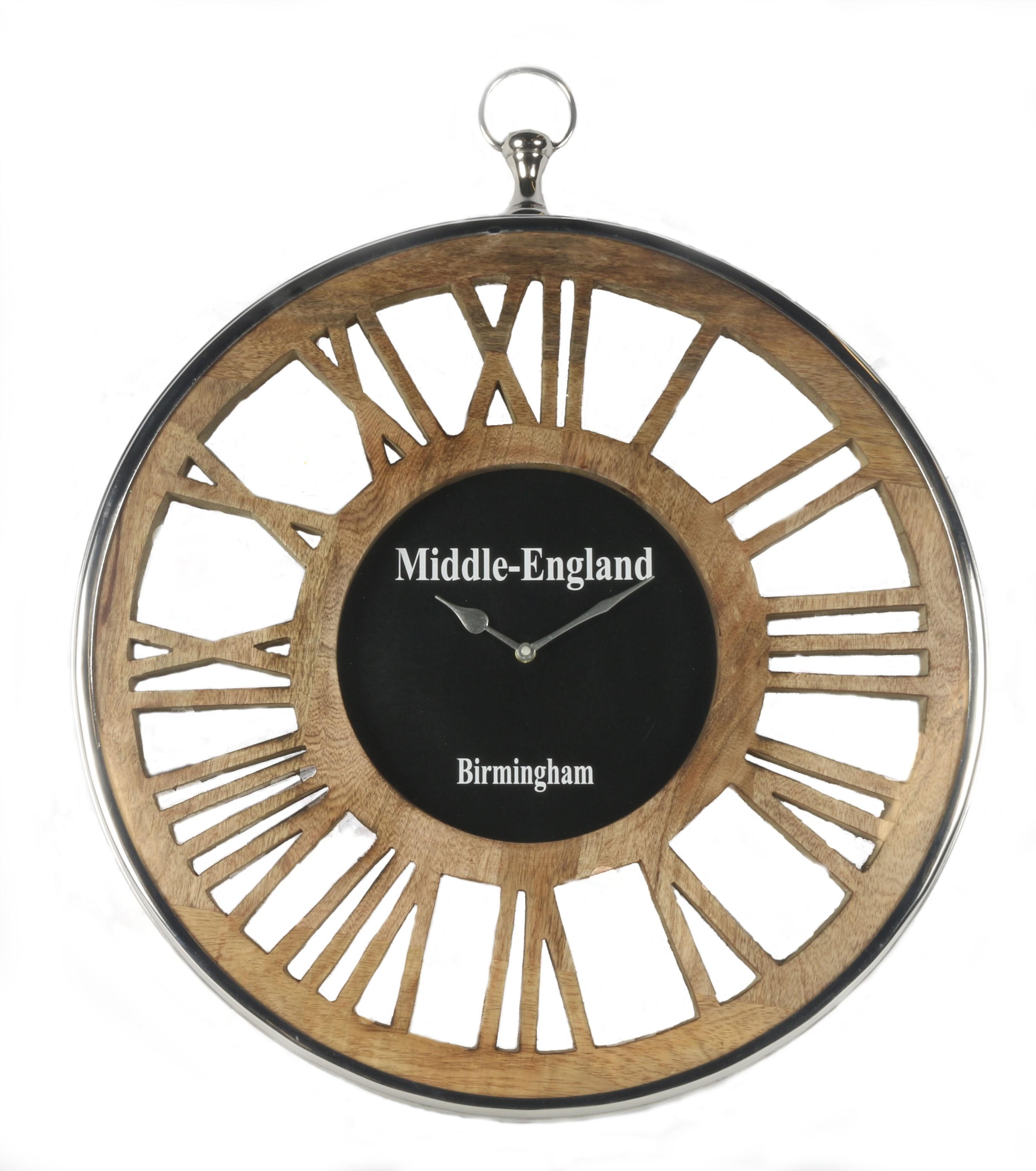 Round Wall Clock Wooden Numerals