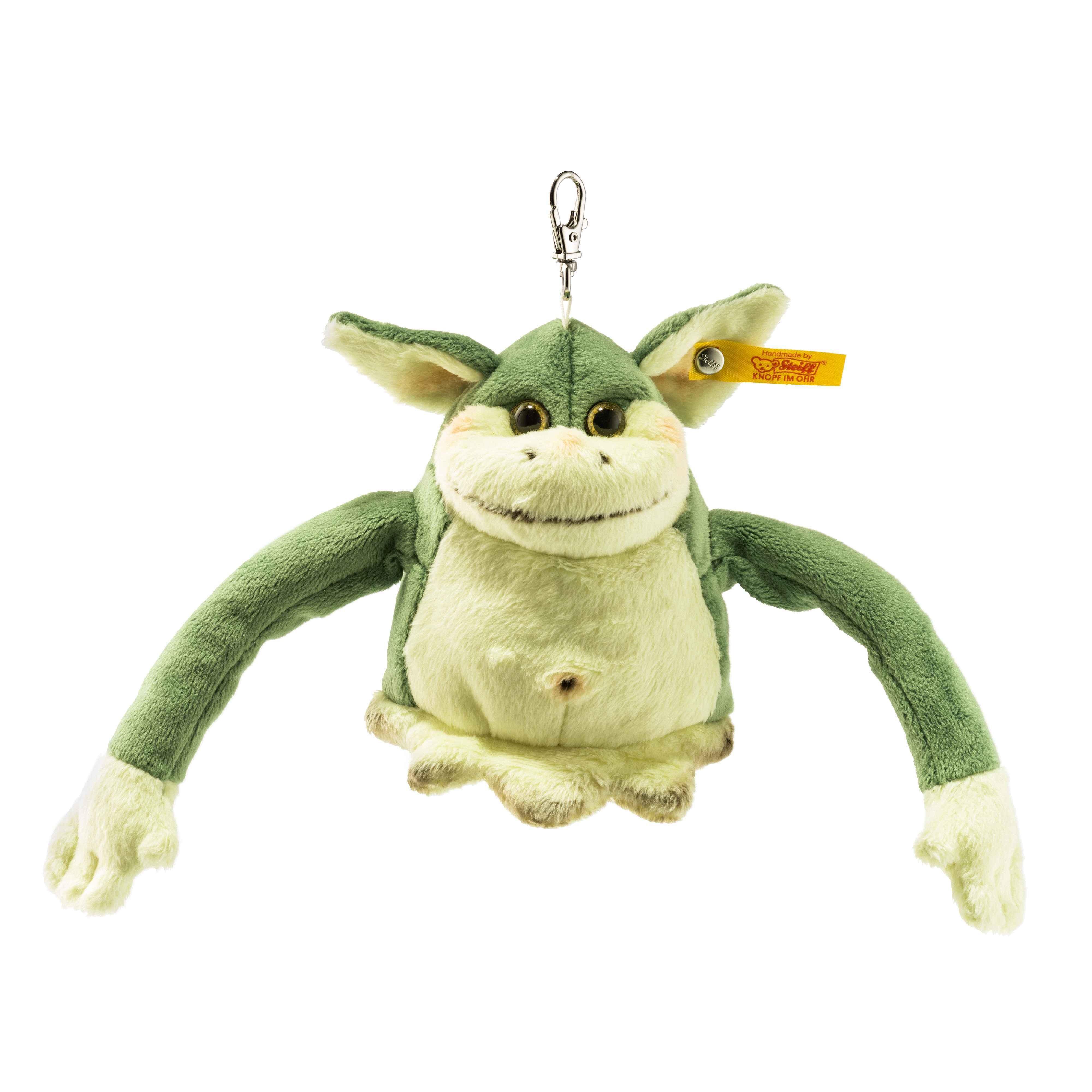 Steiff Pendant Edric Monster - Green - Soft Plush - 10cm - 112478