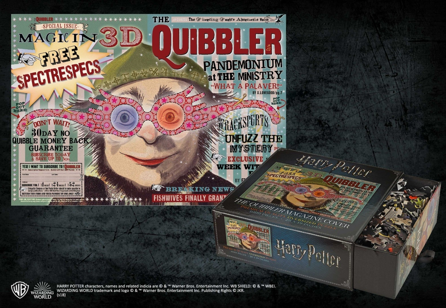 The Quibbler Magazine 1000pc Jigsaw Puzzle