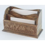 Mango Wood Elephant Letter Rack