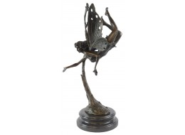 Fairy Flying Hot Cast Bronze Sculpture On Marble Base