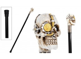 Steampunk Mechanical Skull Swagger Cane / Walking Stick