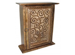 Mango Wood Key Box Tree of Life Design