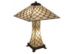 Cream Jewelled Pyramid Tiffany Lamp + Free Bulbs