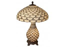 Cream Jewelled Tiffany Umbrella Lamp + Free Bulbs