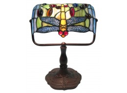 Dragonfly Bankers Tiffany Table Lamp + Free Bulb