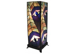 Peacock Square Tiffany Lamp (Large) + Free Bulbs