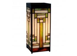 Art Deco Design Square Tiffany Lamp Free Bulb 27.5cm