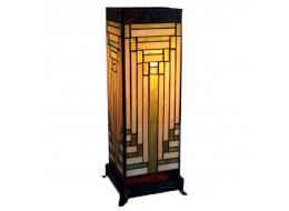 Art Deco Design Square Tiffany Lamp Free Bulb 47cm