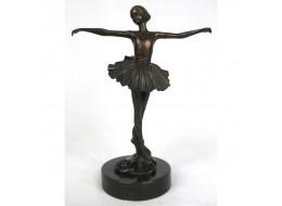 Ballerina Bronze Sculpture On Marble Base