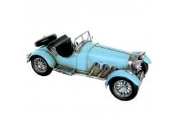 Vintage Light Blue Racing Car