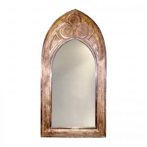 Mango Wood Arched Gothic Mirror (Small)