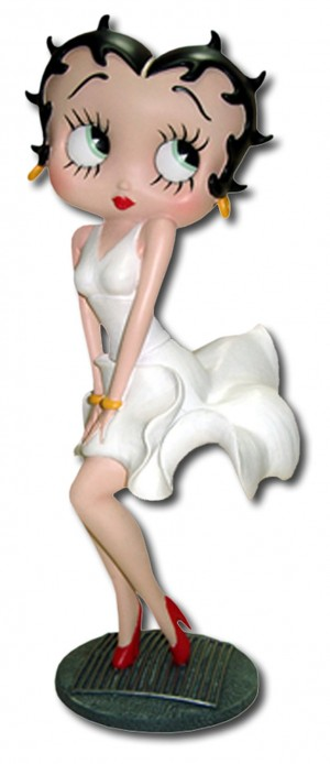 Betty Boop Posing White Dress