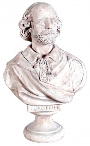 William Shakespeare Bust - Roman Stone Finish