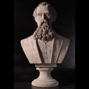 Charles Dickens Bust - Roman Stone Finish