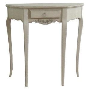 Paris Antique Cream French Style Half Moon Hall/Dressing Table