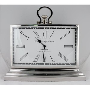 LCD Clock Nickel - Barnes