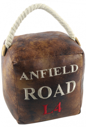 Square Faux Leather 'Anfield Road L4' Doorstop