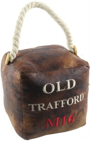 Square Faux Leather 'Old Trafford M16' Doorstop